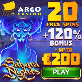 Latest bonus from Argo Casino