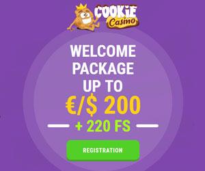 Latest bonus from Cookie Casino